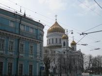 Walking to the Pushkin Museum