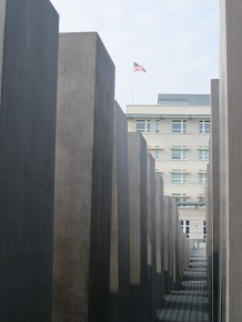 The US Embassy seen from the Holocaust Memorial