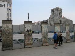Berlin Wall segments in Potsdamer Platz