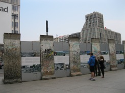 Berlin Wall segments in Potsdamer Platz