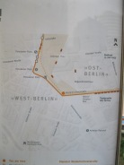 One of the many maps and displays about a divided Berlin