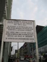 Entering West Berlin
