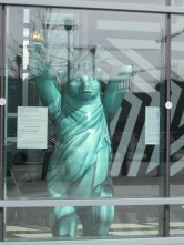Berlin Bear Statue of Liberty in the US Embassy