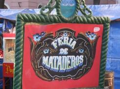 Feria de Mataderos sign