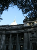 A view of the side of the Congreso