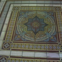 The floor in the entryway - I believe the tiles were imported from the US