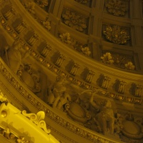 A detail of the dome of the Argentine Congress, modeled after the US Capitol