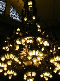 Details of the chandelier in the Blue Room