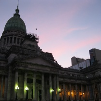 Congreso at night