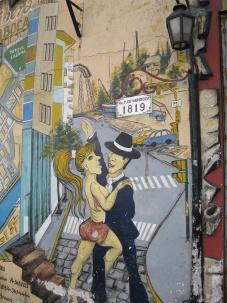 Tango in La Boca! Wall painting