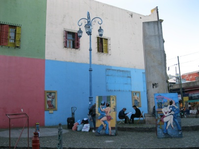 First view of the colors of La Boca