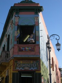 Caminito corner building close-up
