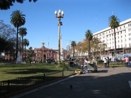 Plaza de Mayo, looking at the Casa Rosada