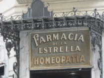 Pharmacy seen while walking to the San Telmo market