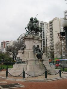 Statue of Garibaldi, Plaza Italia