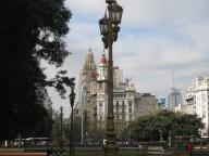 Looking down the Avenida de Mayo