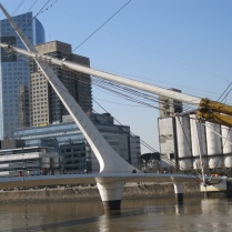 Bridge and boat, Puerto Madero