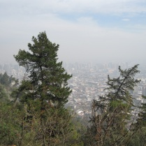 A view from near the top of Cerro San Cristobal