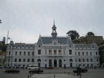 Naval building at Plaza Sotomayor, Valparaiso