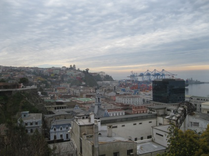 A view of the port from Cerro Alegre