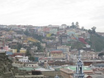 Looking towards the colorful buildings of another cerro