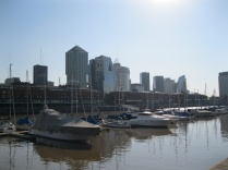 Looking back at Puerto Madero