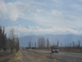 Andes over Mendoza