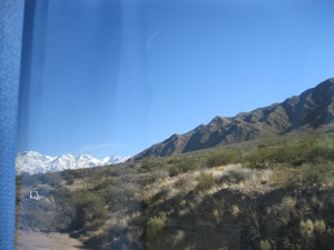 A glimpse of the Andes
