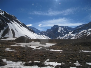 Aconcagua National Park - I think it's the mountain in the distance about to be hidden on the left
