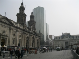 Plaza de Armas - the Cathedral and post office
