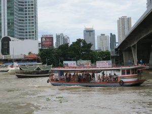 First glimpse of the river in Bangkok