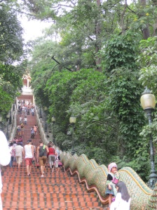 The 306 stairs to Wat Doi Suthep