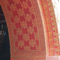 Some of the Lanna (northern Thai) red and gold painting