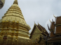 Golden Chedi and Temple Buildings