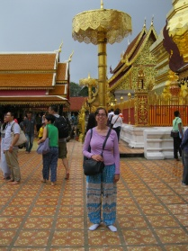 Me (in elephant pants!) at Doi Suthep