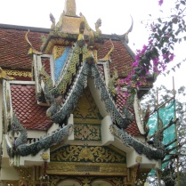 Roof and flowers, Doi Suthep