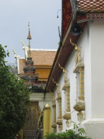 Cool angle of gables and window decorations at Doi Suthep