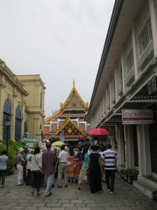 Just a hint of the mob at the Grand Palace...