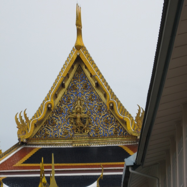 First glimpse of the Grand Palace/Temple of the Emerald Buddha complex
