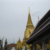 A view of the golden wat (though technically a wat may be the temple...)