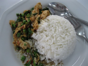 First Thai food. Mmm chili!