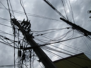 A major cause of fires after earthquakes...electrical wires are everywhere