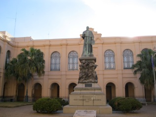 The courtyard in the Jesuit university