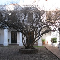 Central courtyard, colonial house