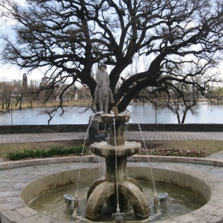 A fountain by the Jesuit reservoir in Alta Gracia