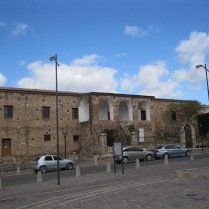 An outer view of the walls of the Jesuit estancia of Alta Gracia