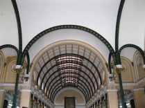 The inside of the central post office makes it clear that Eiffel designed it!