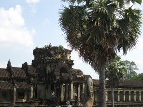One of the five gates into Angkor Wat
