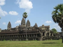 View of the temple once through the outer gates