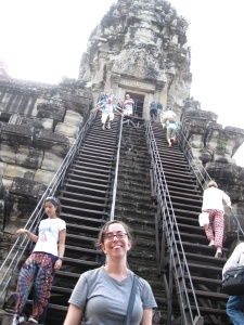 I made it up and down these crazy high stairs!